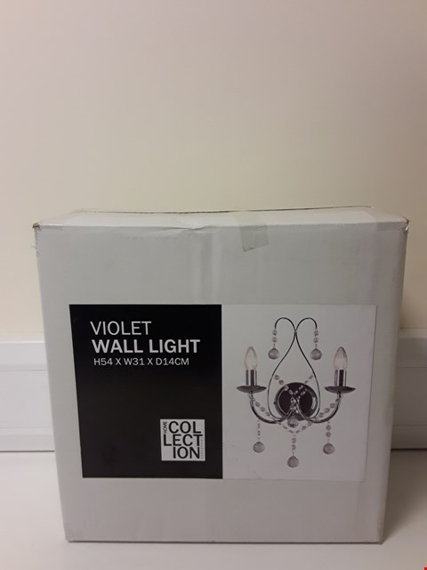 Lot 6099 BOXED VOILET WALL LIGHT