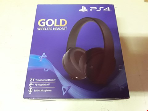 Lot 4226 SONY PLAYSTATION GOLD WIRELESS HEADSET