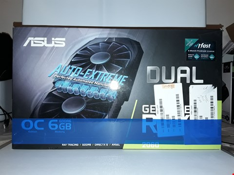 Lot 4295 ASUS DUAL GEFORCE RTX 2060 OC EDITION GRAPHIC CARD (6 GB GDDR6 WITH NVIDIA TURING GPU ARCHITECTURE DUAL-RTX2060-O6G