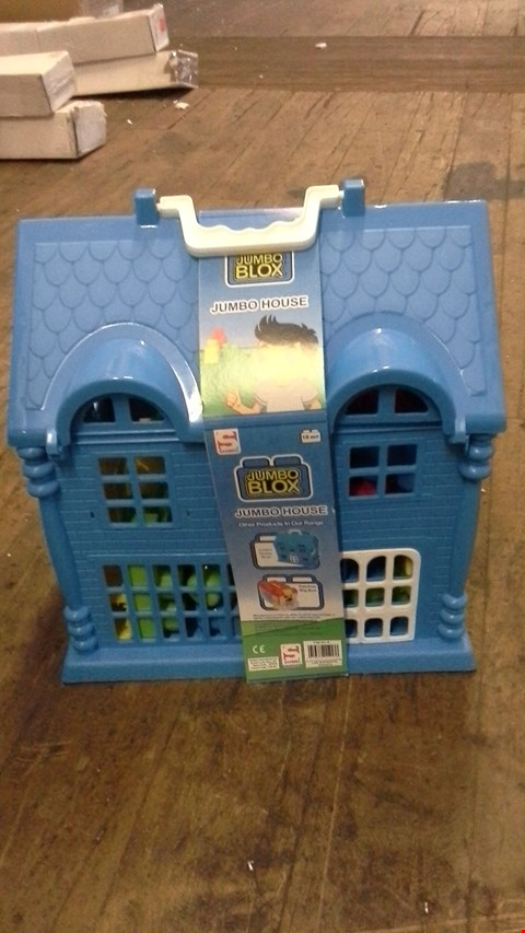 Lot 376 JUMBO PLAYHOUSE WITH 30 BLOCKS BLUE RRP £26.00