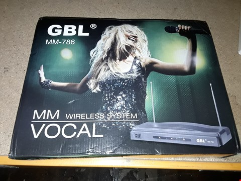 Lot 8052 GBL MM-786 WIRELESS MICROPHONE SYSTEM