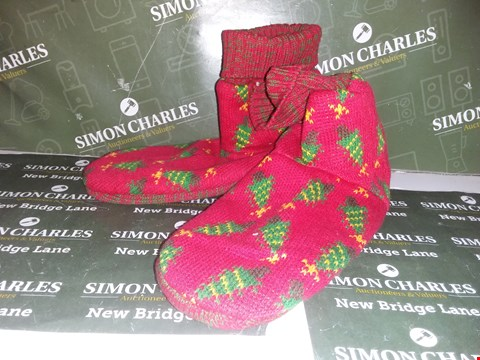Lot 12086 PAIR OF CHRISTMAS TREE STYLE SLIPPERS