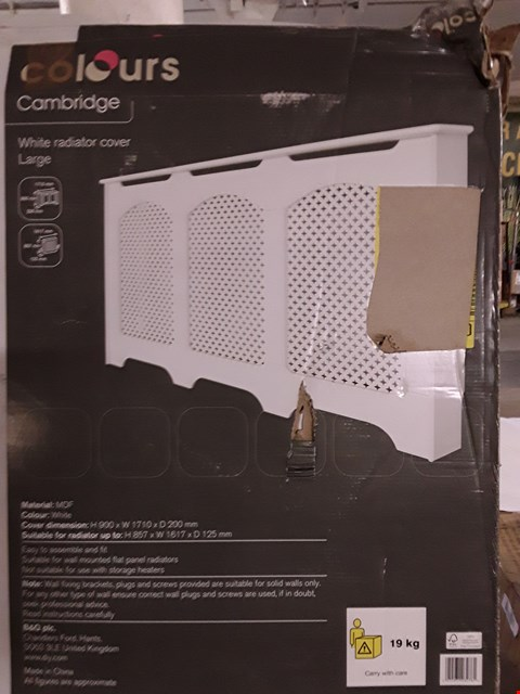 Lot 3198 COLOURS CAMBRIDGE WHITE RADIATOR COVER - WHITE H900 X W1710 X D200 MM