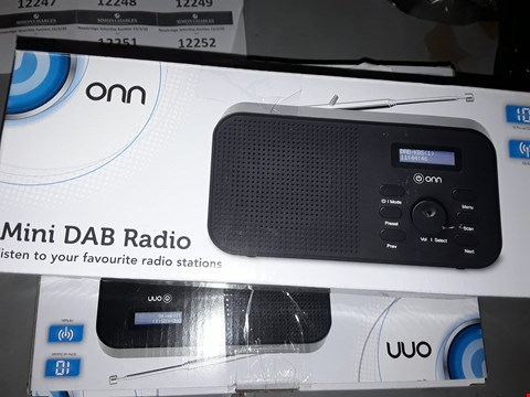 Lot 12242 LOT OF 3 MINI DAB RADIO
