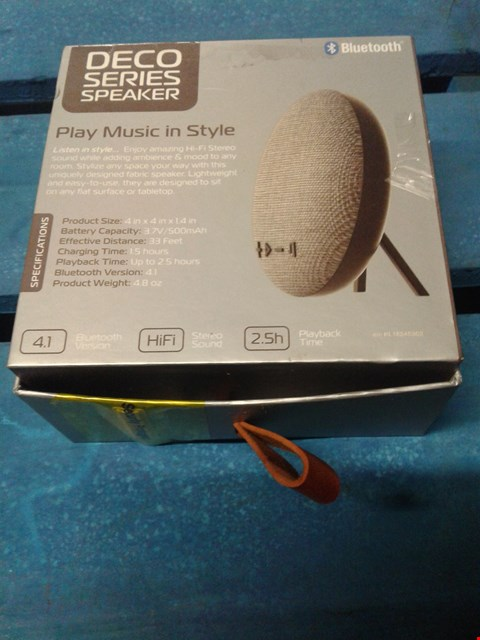 Lot 94 LOT OF 7 DECO SERIES PORTABLE BLUETOOTH SPEAKERS