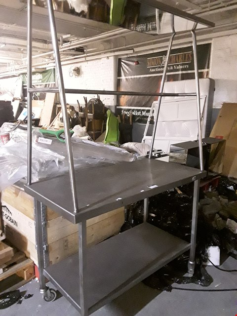 Lot 10034 METAL DEMO TROLLEY WITH OVERHEAD VIEWING MIRROR