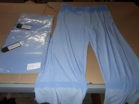 Lot 7663 BOX OF APPROXIMATELY 82 SIDE SPLIT PALAZZO TROUSERS - BLUEBERRY, XL