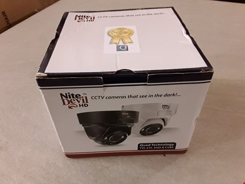 Lot 4296 NITE DEVIL HD 1080P LOW LIGHT CCTV CAMERA - BLACK