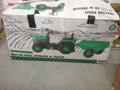 Lot 2109 TRACTOR WITH TRAILER RRP £110