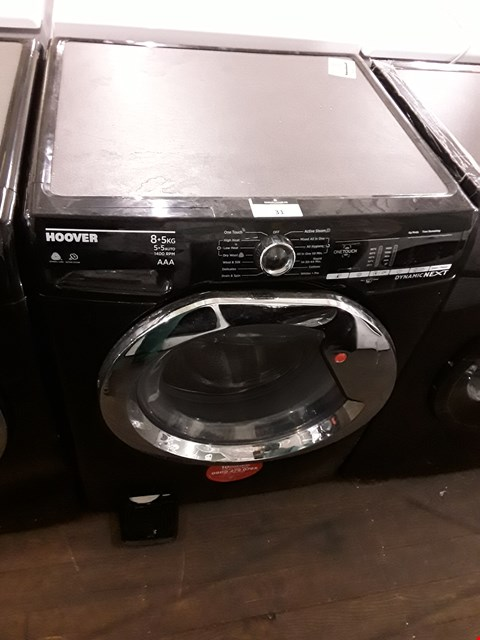 Lot 31 HOOVER WDX0A485ACB BLACK DYNAMIC NEXT 8/5KG 1400RPM WASHER/DRYER  RRP £559.99