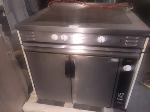 Lot 9073 COMMERCIAL STAINLESS STEEL FALCON SOLID TOP COOKER