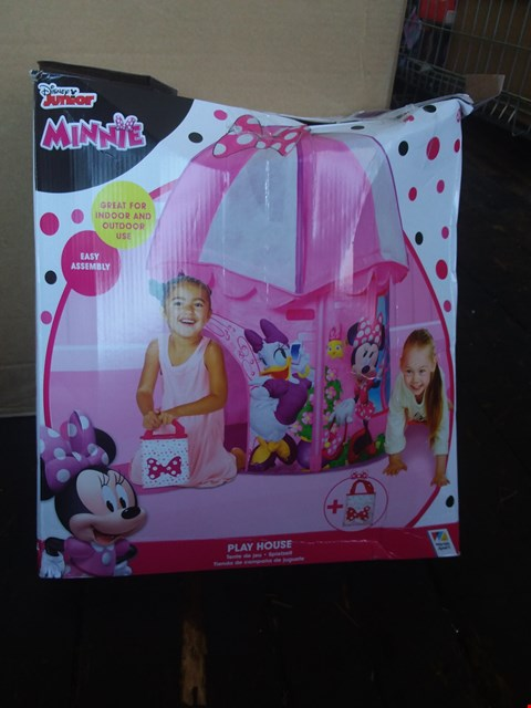 Lot 2521 BOXED GRADE 1 DISNEYMINNIE MOUSE PLAY HOUSE RRP £31.99