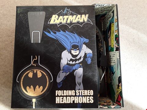 Lot 128 BRAND NEW BATMAN FOLDING STEREO HEADPHONES
