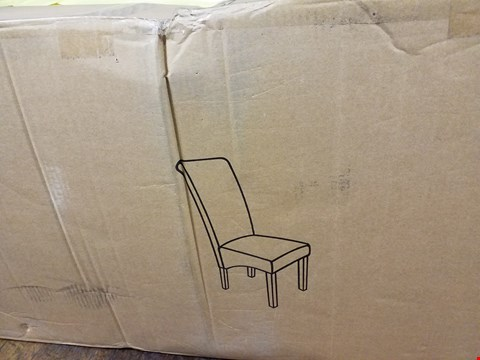 Lot 3358 BOXED PAIR OF OXFORD BLACK FABRIC DINING CHAIRS (1 BOX) RRP £209.00