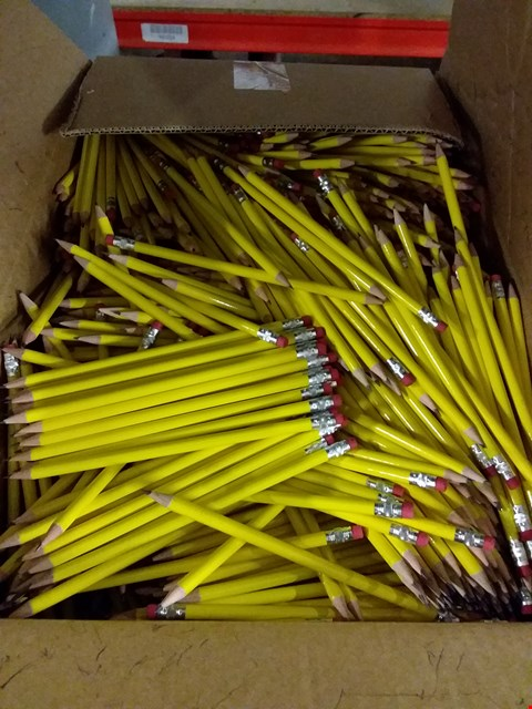 Lot 414 BOX OF APPROXIMATELY 1100 PENCILS WITH RUBBER END RRP £499.00