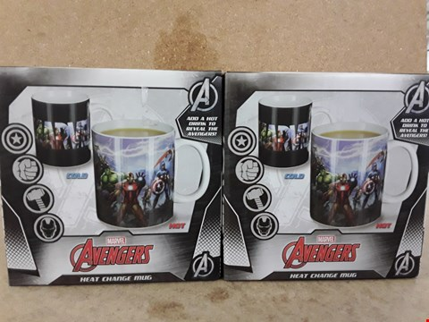 Lot 312 2 BRAND NEW BOXED AVENGERS MUG HEAT CHANGE MUGS