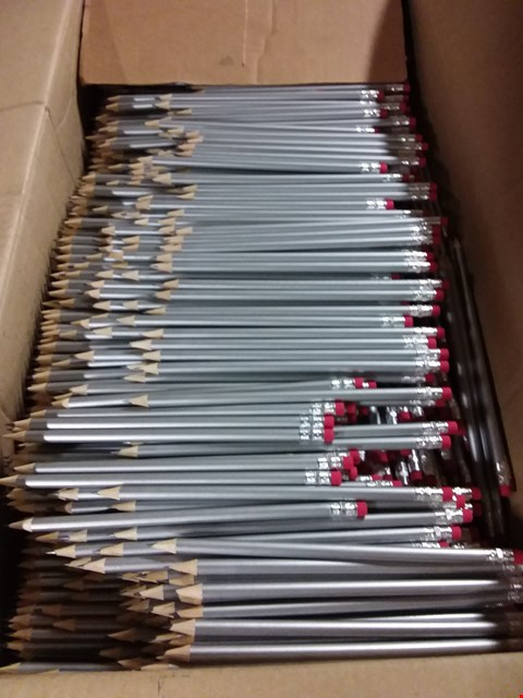 Lot 354 BOX OF APPROXIMATELY 1300 SILVER PENCILS WITH RUBBER END RRP £549.00