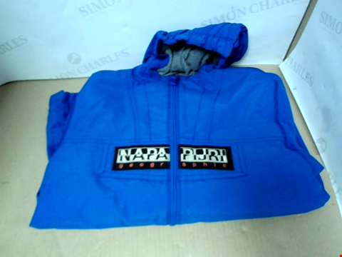 Lot 7185 NAPAPIJRI BOYS ZIP THROUGH BLUE RAINFOREST JACKET - SIZE 10 YEARS