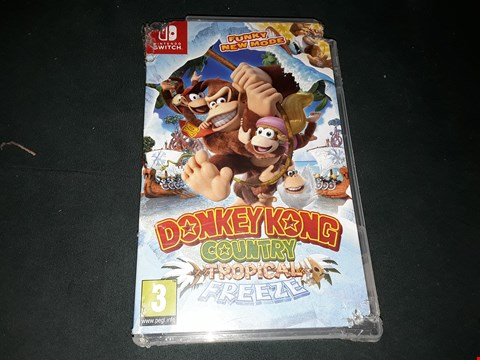 Lot 2283 DONKEY KONG COUNTRY TROPICAL FREEZE NINTENDO SWITCH GAME RRP £55