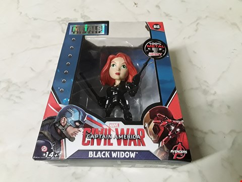 Lot 219 MARVEL CAPTAIN AMERICA BLACK WIDOW DIE CAST FIGURINE