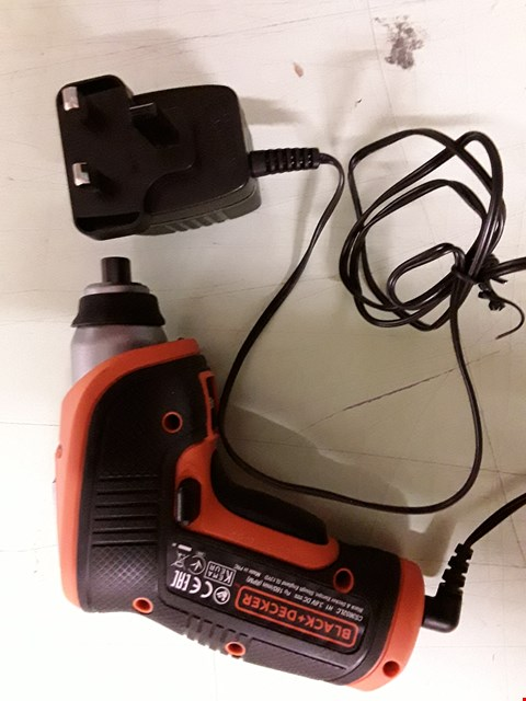 Lot 8501 BLACK AND DECKER ELECTRIC SCREWDRIVER