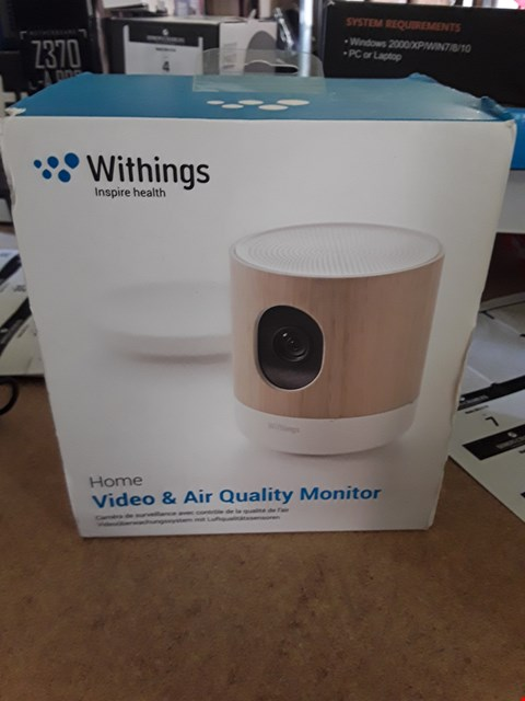 Lot 6 BOXED WITHINGS VIDEO & AIR QUALITY MONITOR