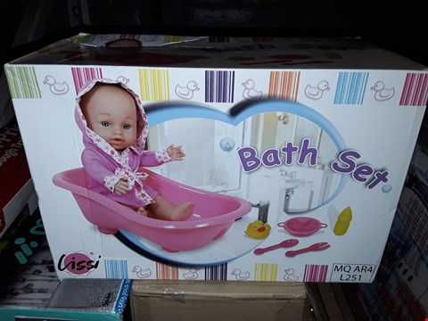 Lot 5053 BOXED LISSSI DOLL WITH BATHTUB (1 BOX) RRP £16.99