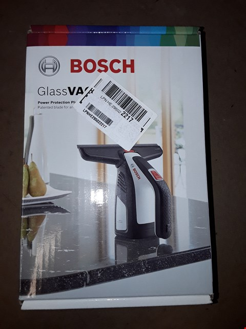 Lot 1068 BOSCH GLASSVAC CORDLESS WINDOW VACUUM