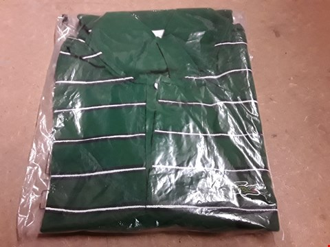 Lot 852 LACOSTE SPORT STRIPED POLO GREEN/BLUE/WHITE 4  RRP £120