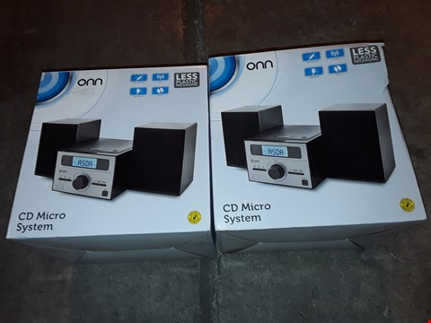 Lot 4567 LOT OF 2 ONN CD MICRO SYSTEMS