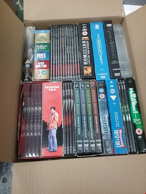 Lot 12075 A BOX OF APPROXIMATELY 22 ASSORTED DVD/BOXSETS TO INCLUDE A MOST HAUNTED SERIES 10 DVD AND THE MENTALIST DVD
