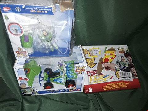 Lot 4557 TOY STORY BUZZ LIGHTYEAR HELICOPTER, TOYSTORY RC CAR, TOY STORY AIRBRUSH