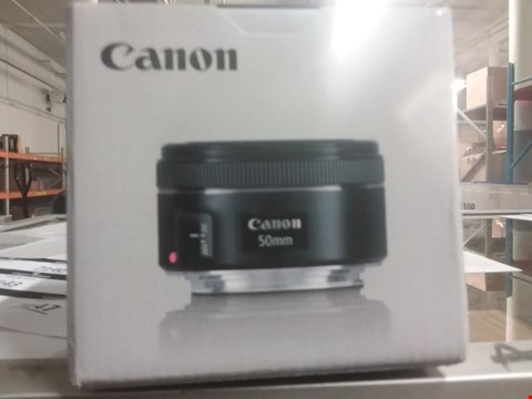 Lot 7139 BOXED GRADE 1 CANON EF 50MM F1.8 STM LENS   RRP £149.99