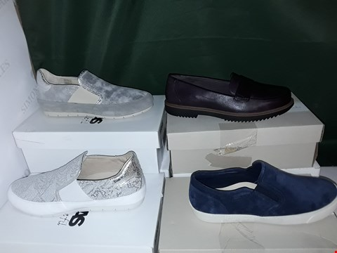 Lot 1064 LOT OF 6 ASSORTED PAIRS OF SHOES TO INCLUDE MANAS, CLARKS