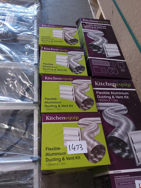 Lot 1473 4 X NOXED KITCHDNEQUIP DUCT AND VENT KIT