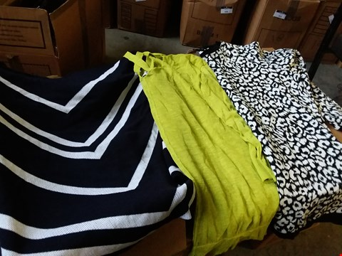 Lot 337 BOX OF APPROXIMATELY 21 ASSORTED LADIES CLOTHING ITEMS TO INCLUDE DRESSES AND JUMPERS - VARIOUS SIZES