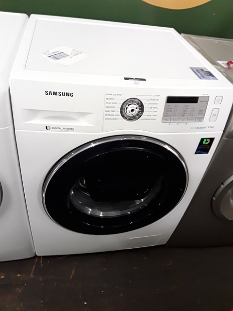 Lot 15 SAMSUNG WW80K5413UK ECO BUBBLE WASHING MACHINE RRP £439.00