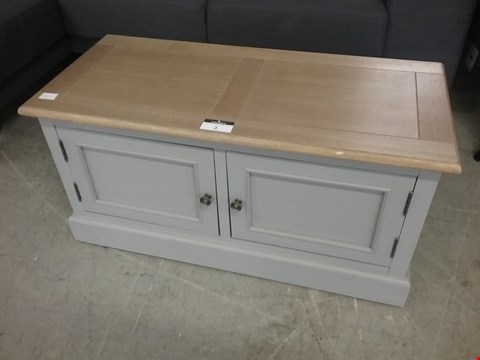 Lot 2 GREY STORAGE BENCH RRP £190