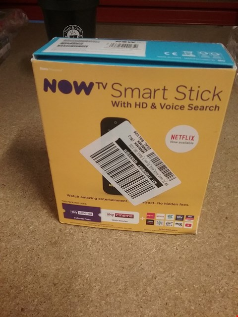 Lot 1161 NOW TV SMART STICK WITH HD AND VOICE SEARCH RRP £25