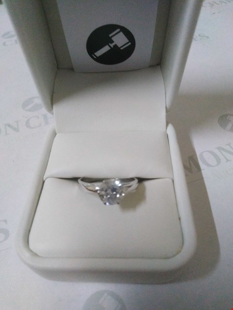 Lot 34 18CT WHITE GOLD SOLITAIRE RING SET WITH A DIAMOND WEIGHING +1.25CT RRP £4575.00