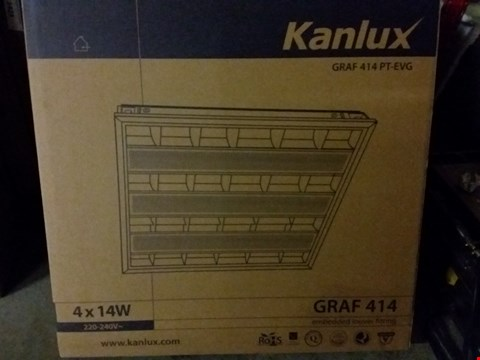 Lot 1016 BOXED KANLUX GRAF 414PT-EVG EMBEDDED LOUVER FITTING