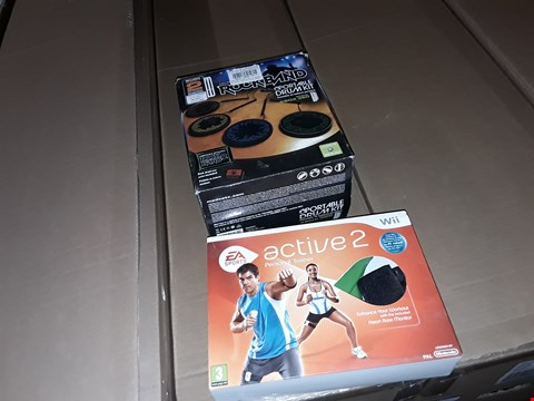 Lot 9096 ROCK BAND PORTABLE DRUM KIT XBOX 360 AND WII ACTIVE 2