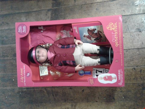 """Lot 1525 BRAND NEW BOXED OUR GENERATION 'LILY ANNA'  18"""" POSEABLE DOLL RRP £65"""
