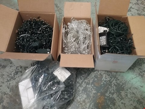 Lot 11065 LOT OF 8 ASSORTED SETS OF CHRISTMAS LIGHTS TO INCLUDE COLOUR CHANGING SNOWFLAKE CURTAINS