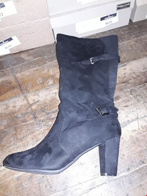 Lot 1317 CUSHION WALK SUEDETTE TALL BUCKLE ANKLE BOOTS SIZE 7