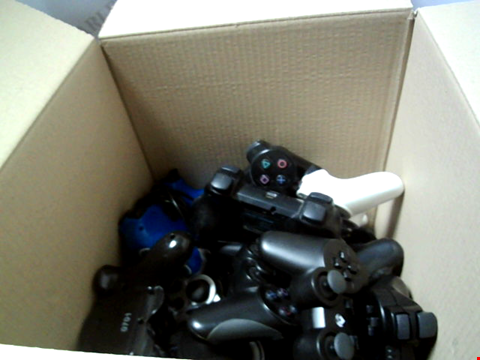 Lot 6233 BOX OF ASSORTED GAME CONTROLLERS ETC