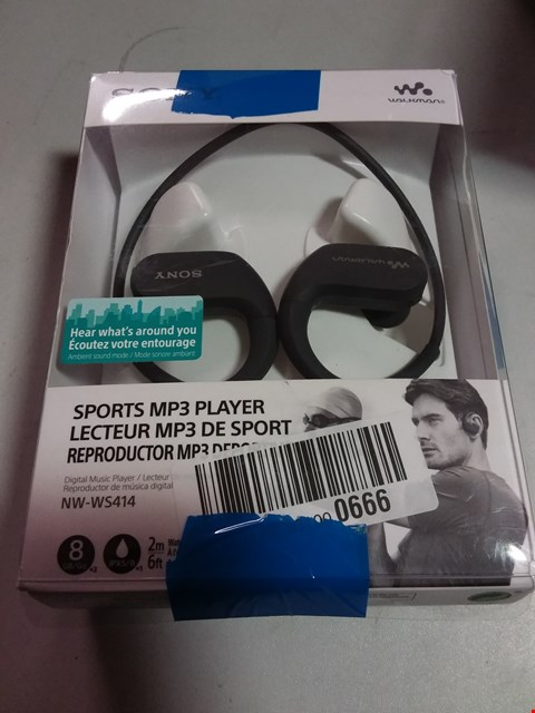 Lot 12191 SONY WALKMAN SPORTS MP3 PLAYER WIRELESS EARPHONES