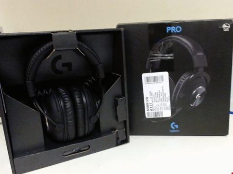Lot 15205 LOGITECH G PRO X GAMING HEADSET (2ND GENERATION) WITH BLUE VO!CE, DTS HEADPHONE:X 7.1 AND 50 MM PRO-G DRIVERS (FOR PC, PS4, SWITCH, XBOX ONE, VR) - BLACK