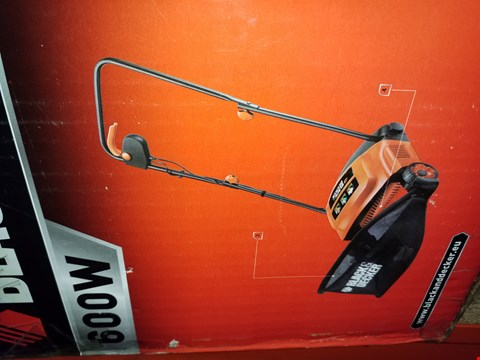Lot 12110 BLACK AND DECKER 600W LAWNRAKER