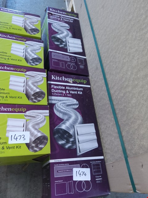 Lot 1474 2 X BOXED KITCHENEQUIP DUCT AND VENT KIT